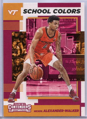 Nickeil Alexander-Walker rookie card 2019 contenders draft picks school colors
