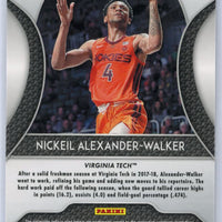 2019 Panini Prizm Draft Picks #82 Nickeil Alexander-Walker red rookie card Virginia Tech