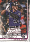 Nolan Arenado League Leaders card #70 Colorado Rockies 2019 Topps Series 1 Baseball
