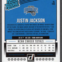 Justin Jackson Orlando Magic Donruss Rated Rookie Card #183