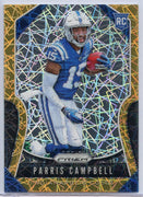 Parris Campbell Rookie Card #347 Gold Laser Prizm Football 2019 Colts WR