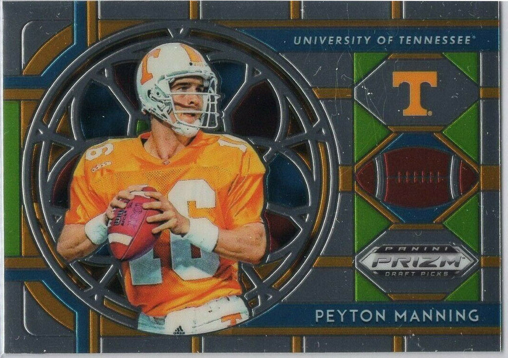 Peyton Manning stain glass insert card No. 74 Tennessee Vols - 2019 Prizm Draft Picks