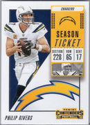 Philip Rivers 2018 Panini Contenders #48 Los Angeles Chargers card