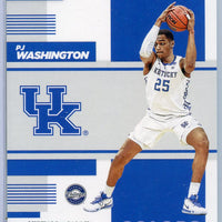 2019 Panini Contenders Draft Picks #15 PJ Washington School Colors rookie card Kentucky