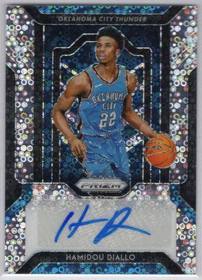 Hamidou Diallo autograph rookie card 2018-19 Prizm Basketball Disco