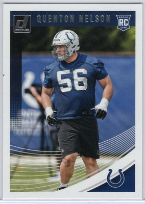 Quenton Nelson rookie card 2018 Donruss Football No. 351