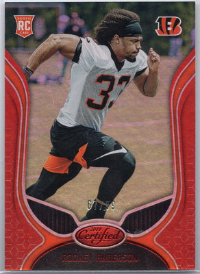 Rodney Anderson Rookie Card 2019 Certified Football No. 140 Bengals
