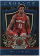 Romeo Langford Crusade rookie card blue 2019 prizm draft picks #99 Indiana
