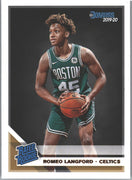 Romeo Langford Rated Rookie Card #213 2019-20 Donruss Basketball Celtics
