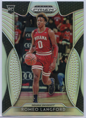 2019 Panini Prizm Draft Picks Silver Romeo Langford rookie card #16 Indiana / Boston Celtics