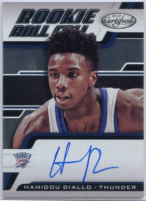 Hamidou Diallo autographed 2018-19 Certified Basketball Rookie Roll Call RRC-HD