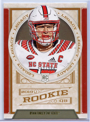Ryan Finley rookie card No. 195 Panini Legacy Football /299