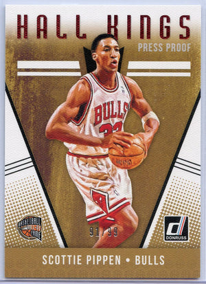 91/99 Scottie Pippen Hall Kings Press Proof Card #21 Donruss Basketball 2018-19 Bulls