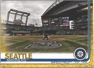 2019 Topps Series 1 Baseball Seattle Mariners Safeco Field Gold Parallel Card #75