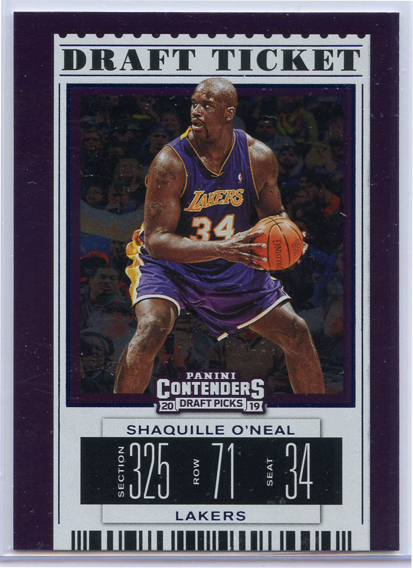 Shaquille O'Neal Draft Ticket card 2019 Contenders Draft Picks No. 47 LA Lakers