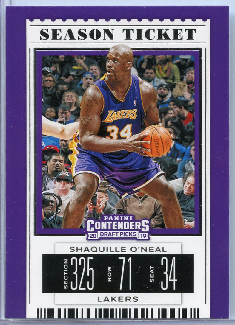 Shaquille O'Neal Season Ticket card #47 2019 Contenders Draft Picks