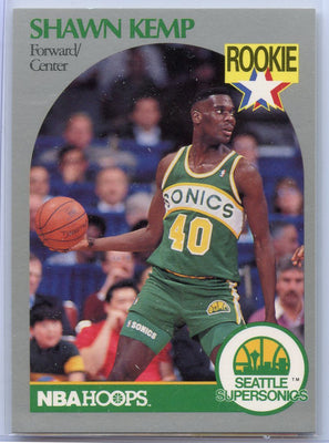Shawn Kemp Rookie card #279 1990 NBA HOOPS Basketball Seattle SuperSonics