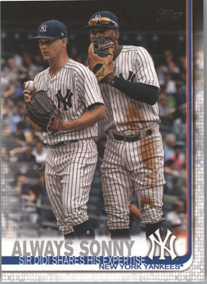 2019 Topps Series 1 Baseball card #263 Always Sonny NY Yankees
