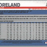 2019 Topps Series 1 Baseball card #262 Mitch Moreland Red Sox