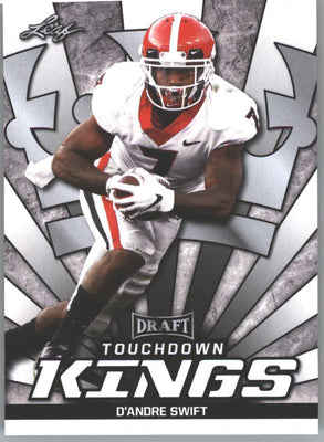 D'Andre Swift TOUCHDOWN KINGS RC 2020 Leaf Draft Football #78