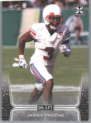 2020 Leaf Draft Football James Proche Rookie Card #37 SMU wide receiver