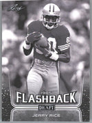 2020 Leaf Draft Football FLASHBACK 1985 Jerry Rice card #99 49ers WR