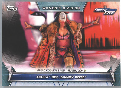 2019 Topps WWE Womens Division Asuka Def Many Rose Smack Down Live #72