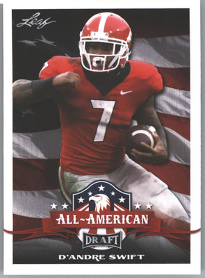 2020 Leaf Draft Football All-Americans D'Andre Swift Rookie Card #70 Georgia Bulldogs RB