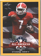 2020 Leaf Draft Football All-Americans D'Andre Swift Gold Parallel Rookie Card #70