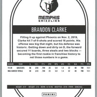 2020-21 Panini NBA HOOPS Basketball Brandon Clarke Card number 64