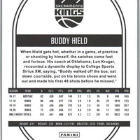 2020-21 Panini NBA HOOPS Basketball Buddy Hield Card number 13 Kings