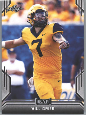 2019 Leaf Draft Football Will Grier Rookie Card #65