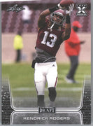 Kendrick Rogers Rookie Card #44 2020 Leaf Draft Football WR Texas A&M