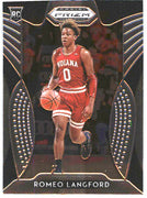 2019 Prizm Draft Picks Basketball #16 Romeo Langford Rookie Card Hoosiers