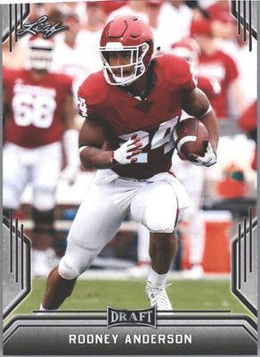 2019 Leaf Draft Football Rodney Anderson Rookie Card #63