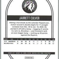 2020-21 Panini NBA HOOPS Basketball Jarrett Culver Card number 37 Timberwolves