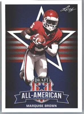 2019 Leaf Draft All-American Marquise Brown Rookie Card #78