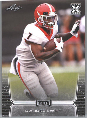 2020 Leaf Draft Football D'Andre Swift Rookie Card #10 University of Georgia RB