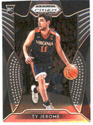 2019 Panini Prizm Draft Picks Basketball Ty Jerome Rookie Card #24 Virginia