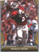 2019 Leaf Draft Gold Parallel Marquise Brown Rookie Card #52