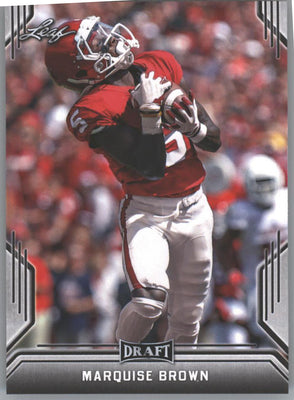 2019 Leaf Draft Football Marquise Brown Rookie Card #52 Oklahoma