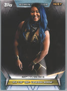 2019 Topps WWE Women's Division NXT Mia Yim Defeats Vanessa Borne #92 wrestling card