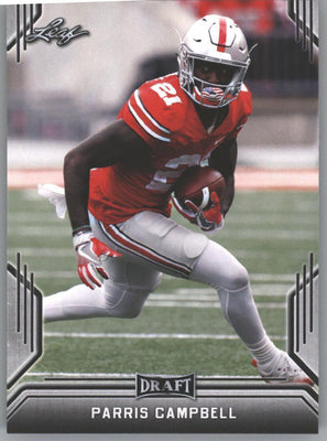 2019 Leaf Draft Football Parris Campbell Rookie Card #61 OSU WR