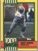 1990 Topps 1000 Yard Club Barry Sanders Card #3 Lions running back