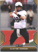 2019 Leaf Draft Football Clayton Thorson Gold Parallel Rookie Card #10