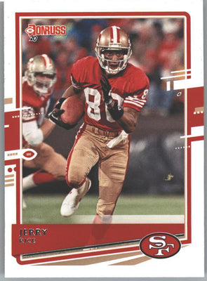 2020 Donruss Football Jerry Rice Card #18 San Francisco 49ers