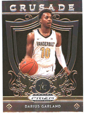 2019 Prizm Draft Picks Basketball CRUSADE Darius Garland RC #23 Vanderbilt