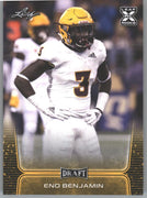 2020 Leaf Draft Football Gold Parallel Eno Benjamin Rookie Card #31 RB ASU