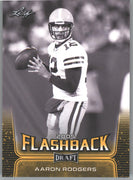 2020 Leaf Draft Football FLASHBACK 2005 Aaron Rodgers Gold Parallel Card #91 Packers QB