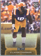 2020 Leaf Draft Football Gold Parallel K'Lavon Chaisson Rookie Card #42